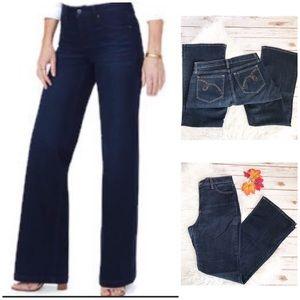 NYDJ High Rise Flare Leg Dark Wash Jeans Size 10